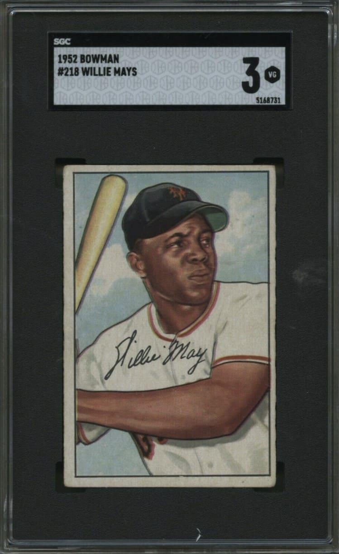 1952 Bowman Willie Mays #218