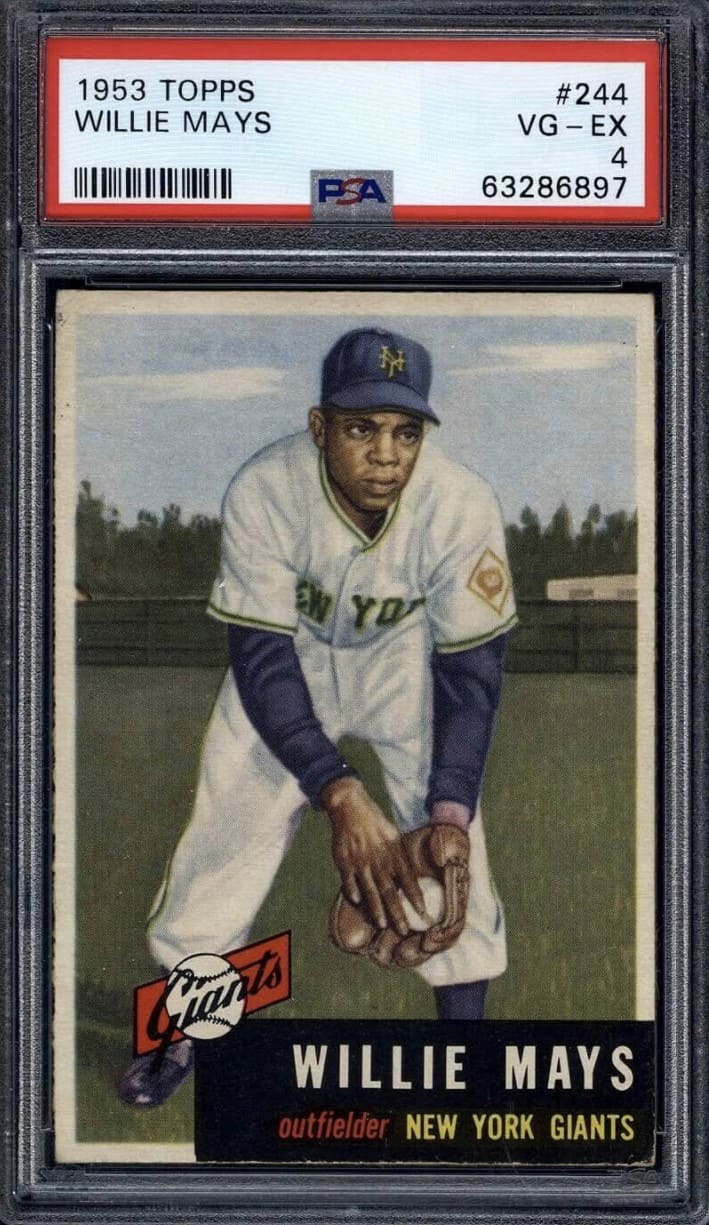 1953 Topps Willie Mays #244