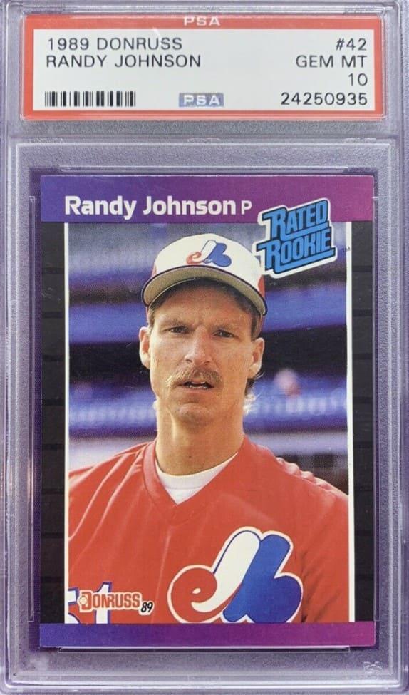1989 Donruss Randy Johnson Rookie Card #42