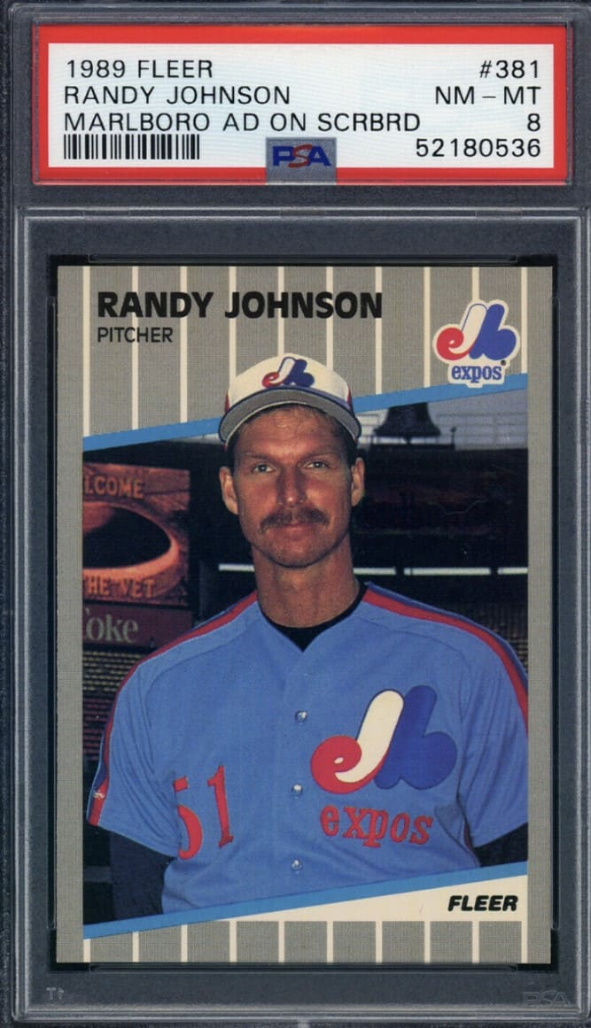 1989 Fleer Randy Johnson RC #381