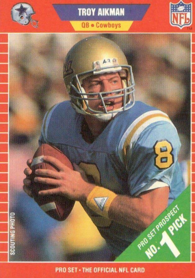 1989 Pro Set Troy Aikman RC #490