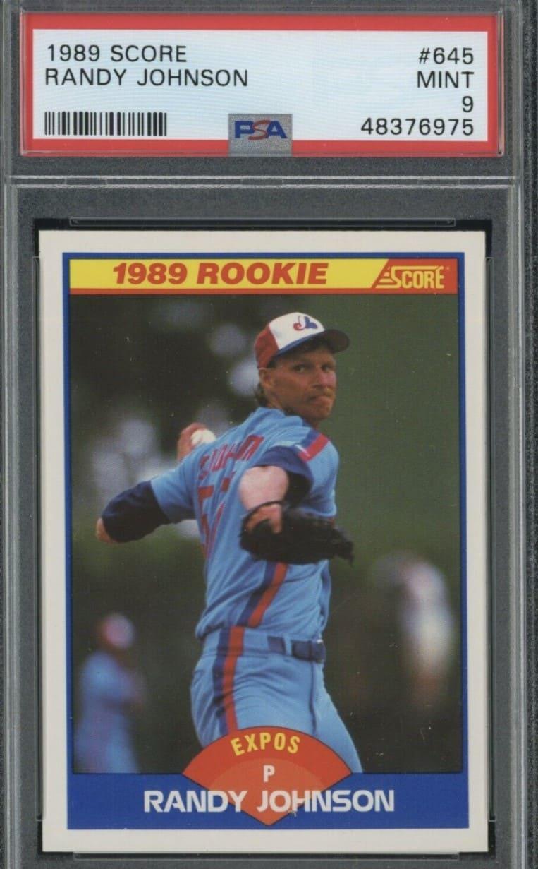 1989 Score Randy Johnson RC #645