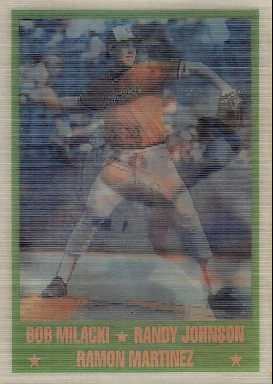 1989 Sportflics Randy Johnson/Bob Milacki/Ramon Martinez