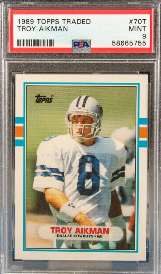 1989 Topps Traded Troy Aikman RC #70T