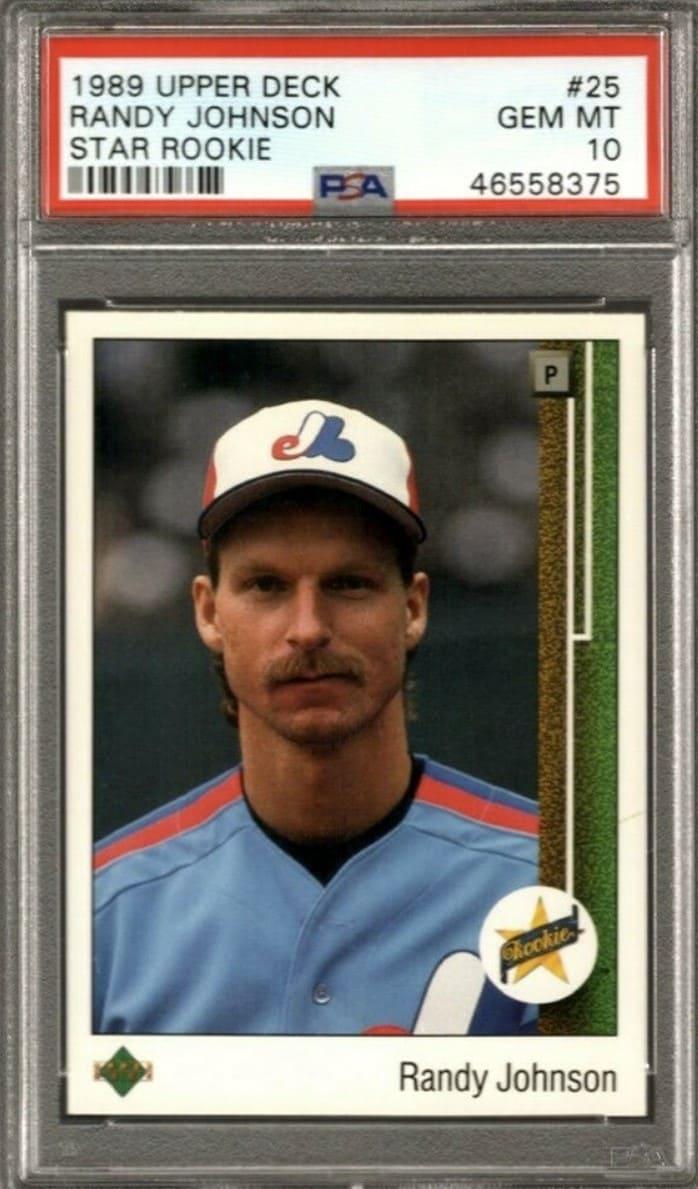1989 Upper Deck Star Rookie Randy Johnson Rookie Card #25