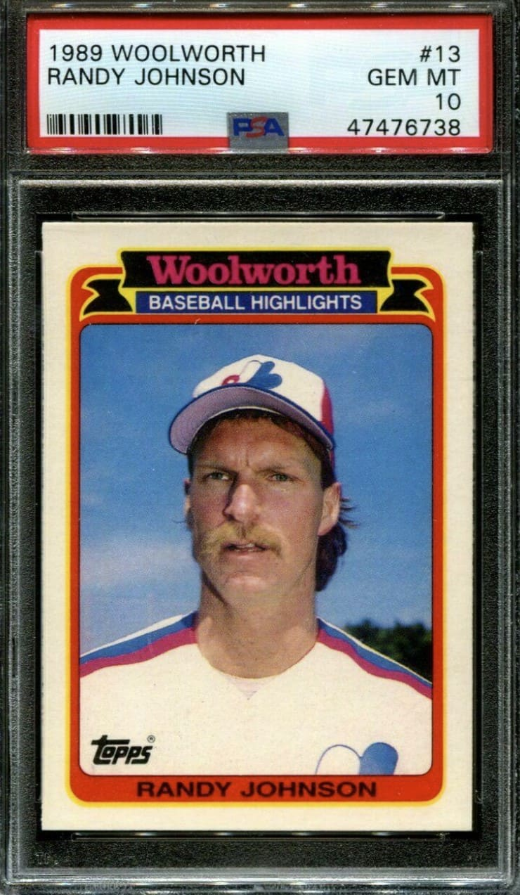 1989 Woolworth Randy Johnson RC #13