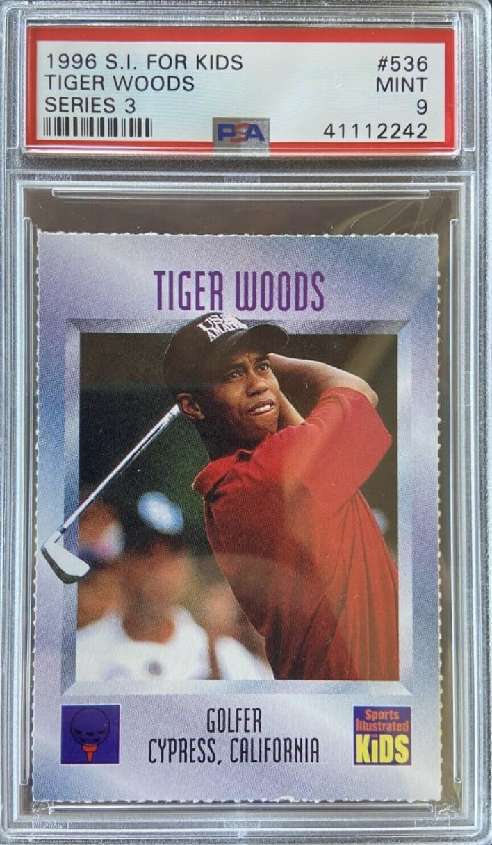 1996 Sports Illustrated for Kids Tiger Woods #536
