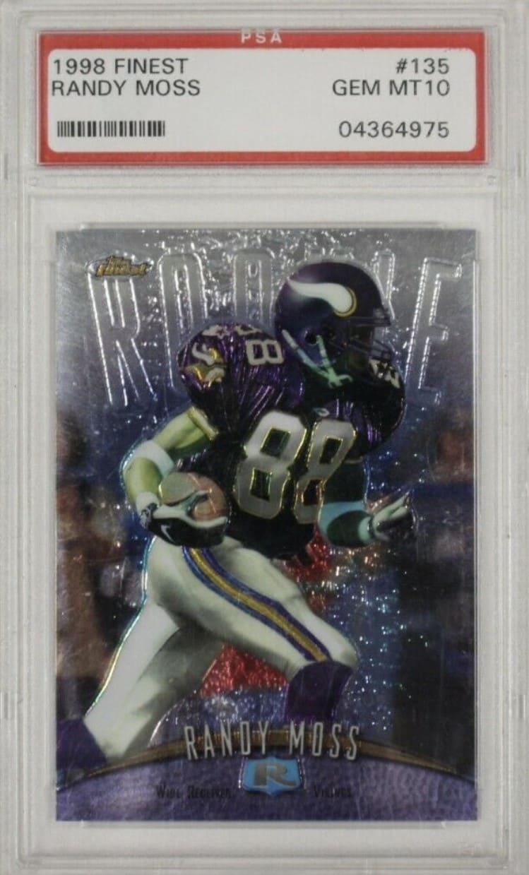 1998 Finest Randy Moss RC #135