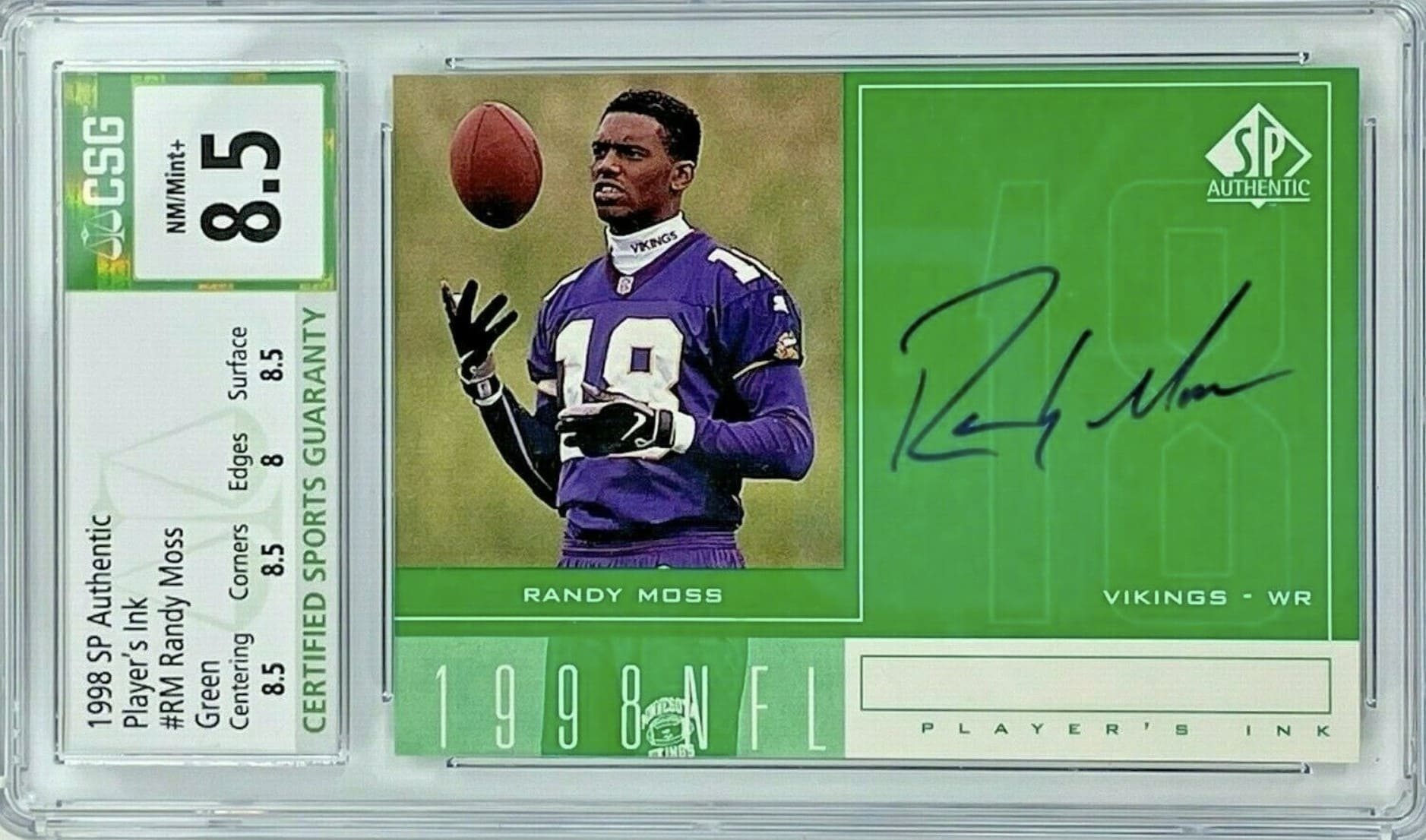 1998 SP Authentic Player's Ink Randy Moss RC #RM