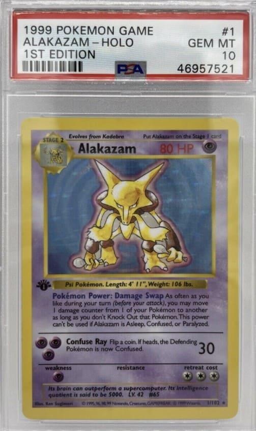 1999 Pokemon First Edition Alakazam #1