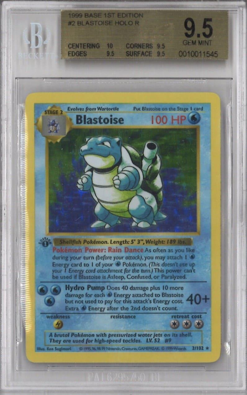 1999 Pokemon First Edition Blastoise Holo #2