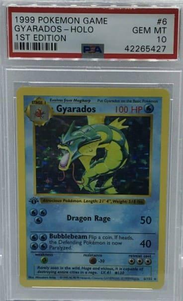 1999 Pokemon First Edition Gyarados #6