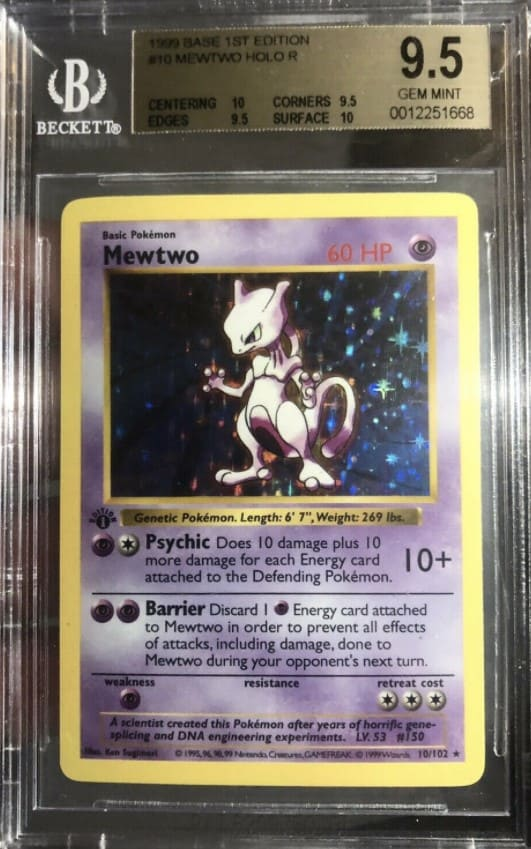 1999 Pokemon First Edition Mewtwo Holo #10