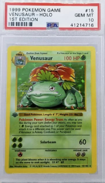 1999 Pokemon First Edition Venusaur Holo #15