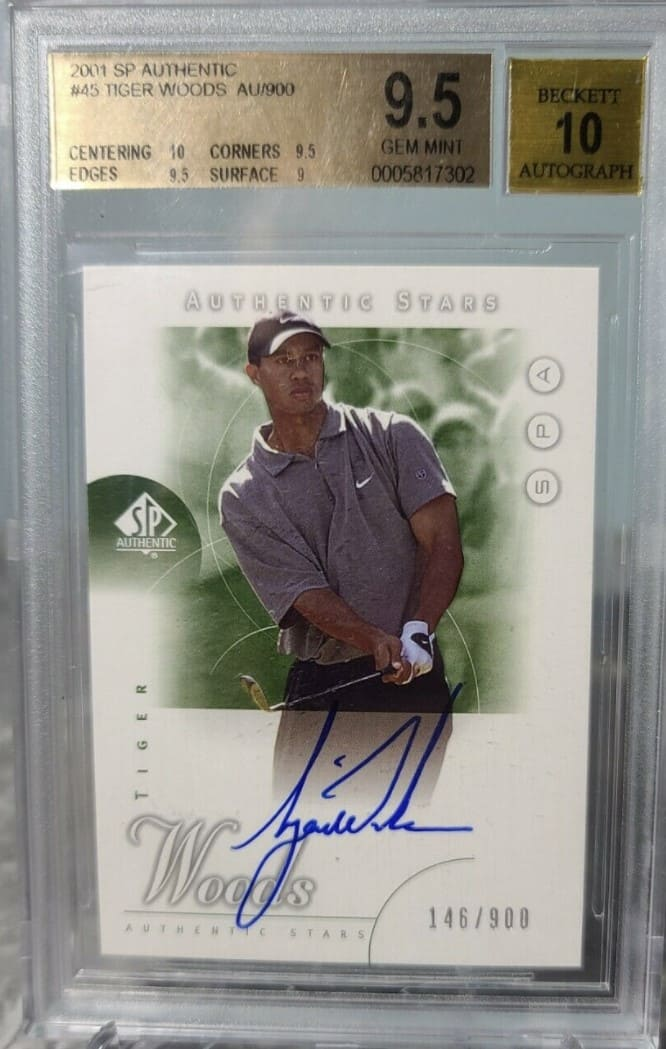 2001 SP Authentic RC Tiger Woods #45