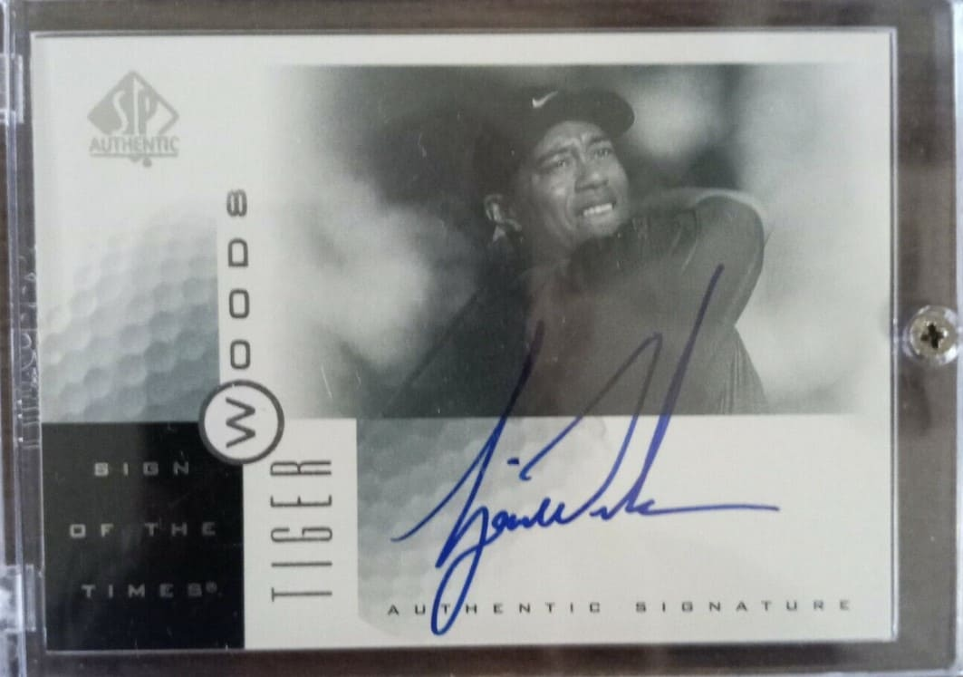2001 SP Authentic Sign of the Times Tiger Woods Auto #TW