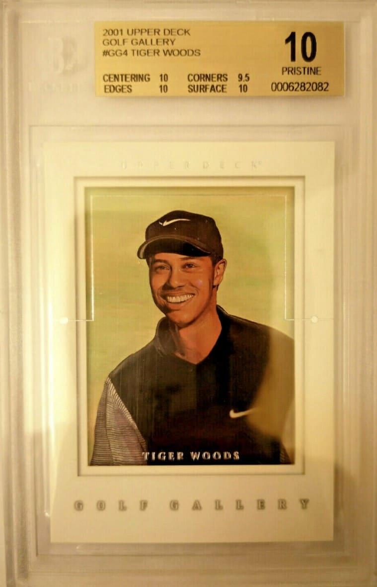 2001 Upper Deck Golf Gallery Tiger Woods RC #GG4