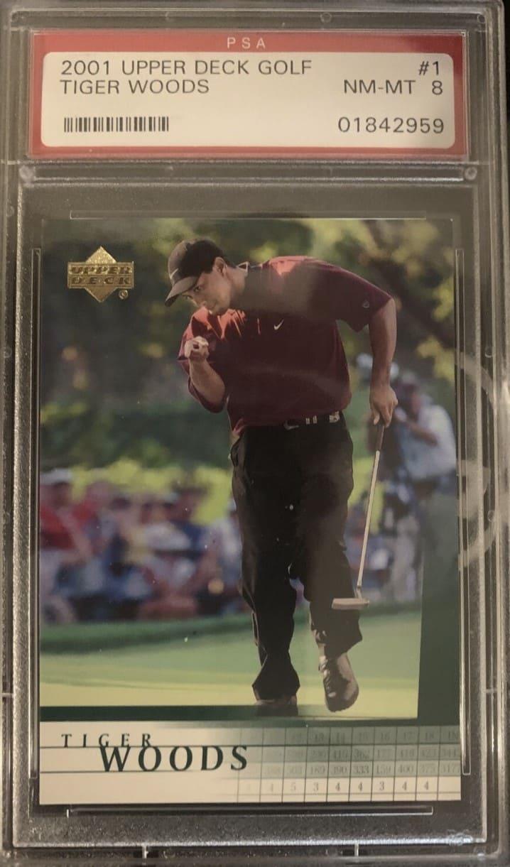 2001 Upper Deck Golf Tiger Woods Rookie Card #1