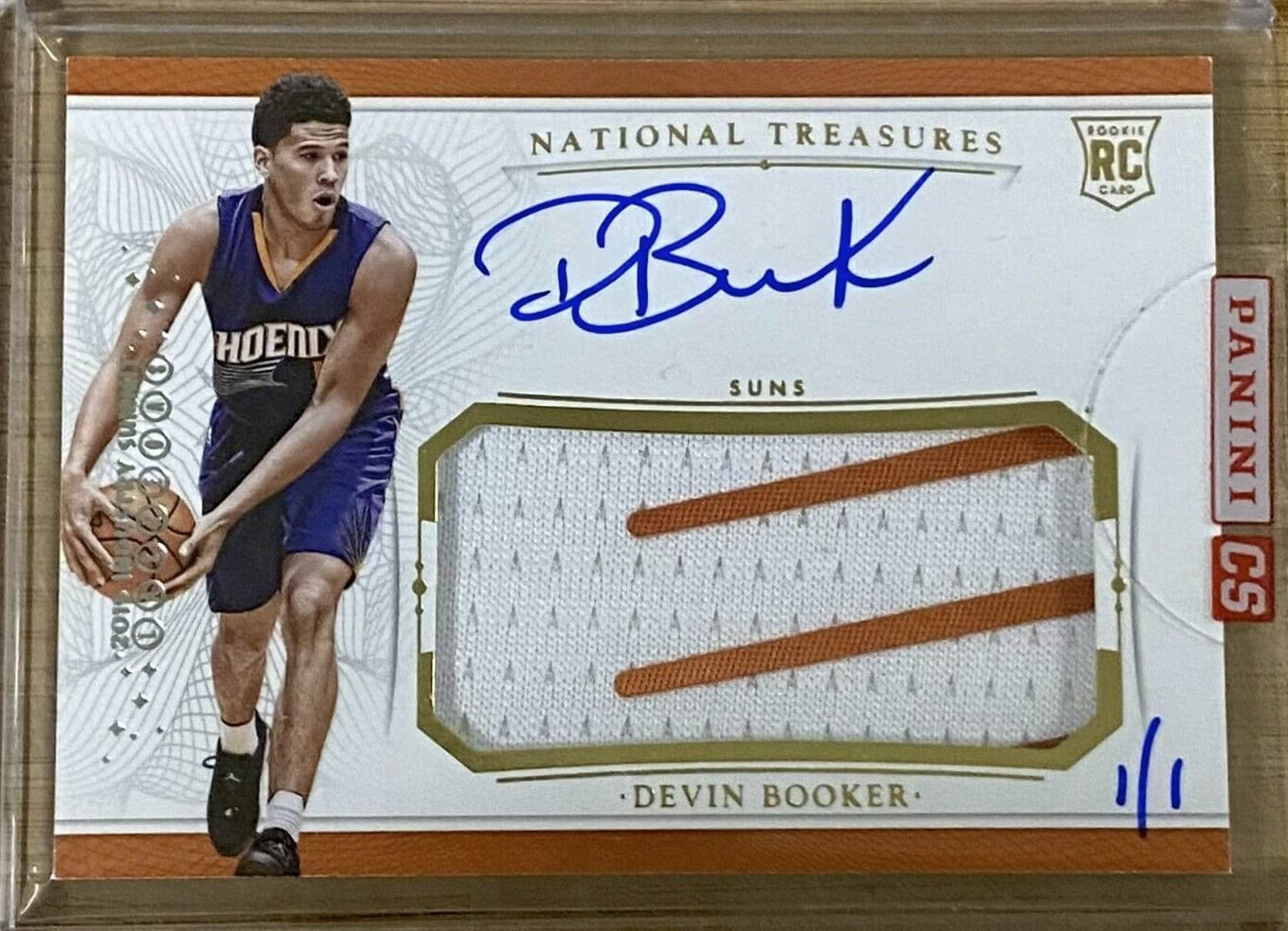 2015 National Treasures Devin Booker RC Auto Patch #113