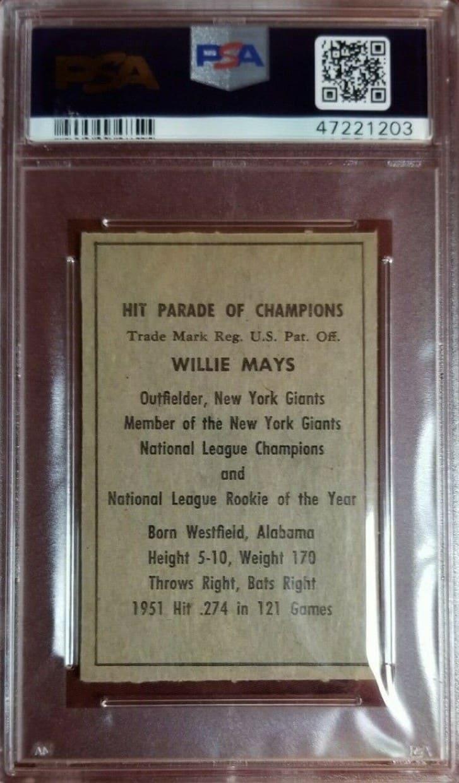 Berk Ross Willie Mays rookie card from 1952