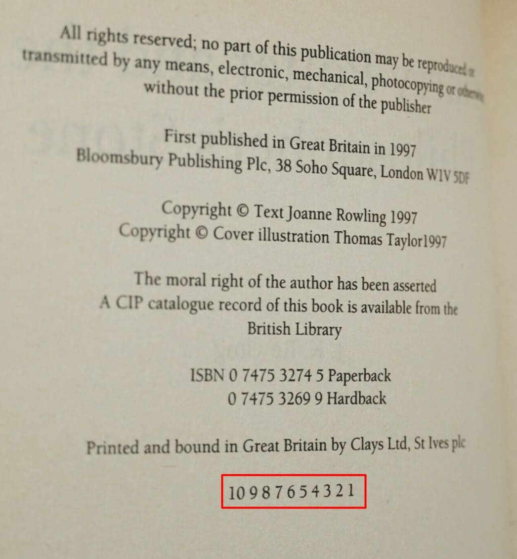 Collecting Harry Potter Book First Edition